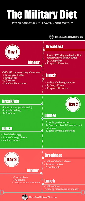 Three Day Military Diet Plan