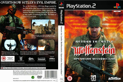 Jogo Return To Castle Wolfenstein - Operation Resurrection PS2 DVD Capa