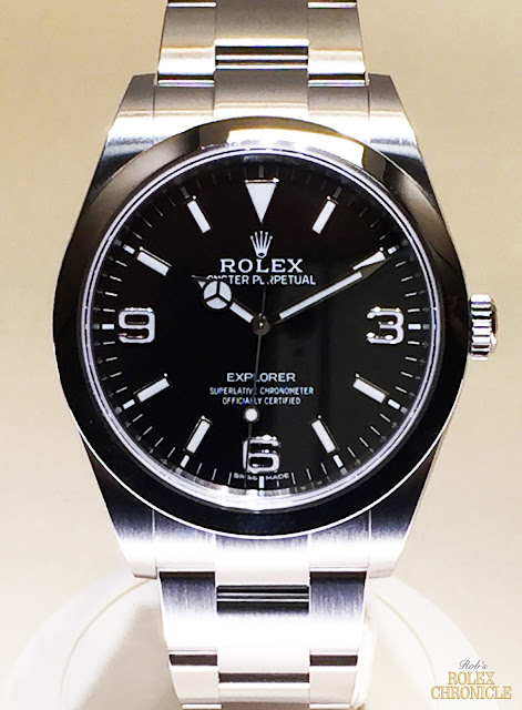 photo of Rolex Explorer Display at Baselworld 2016