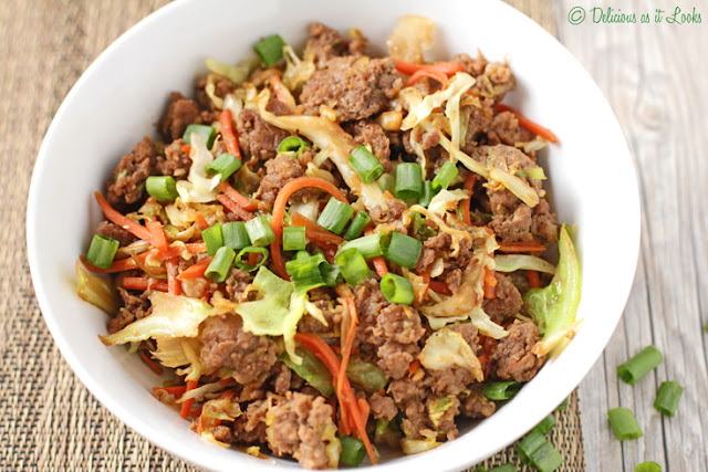 Low-FODMAP Egg Roll Bowl  /  Delicious as it Looks