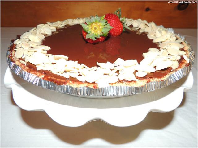 Tarta Americana de Fresas, Chocolate, Helado y Almendras