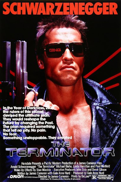 Poster of The Terminator 1984 720p Hindi BRRip Dual Audio Full Movie Download
