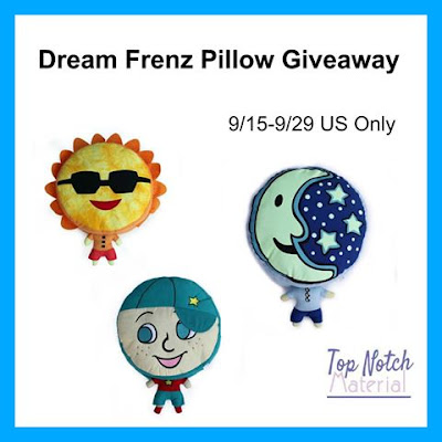 Enter the Dream Frenz Pillow Giveaway. Ends 9/29