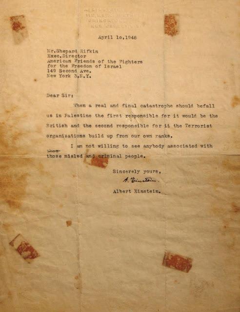Carta de Einstein aos terroristas