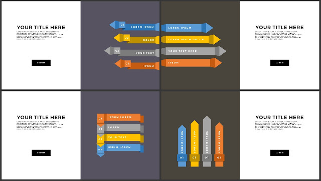 Free Various Infographic Arrow Elements PowerPoint Template Slide 17-20