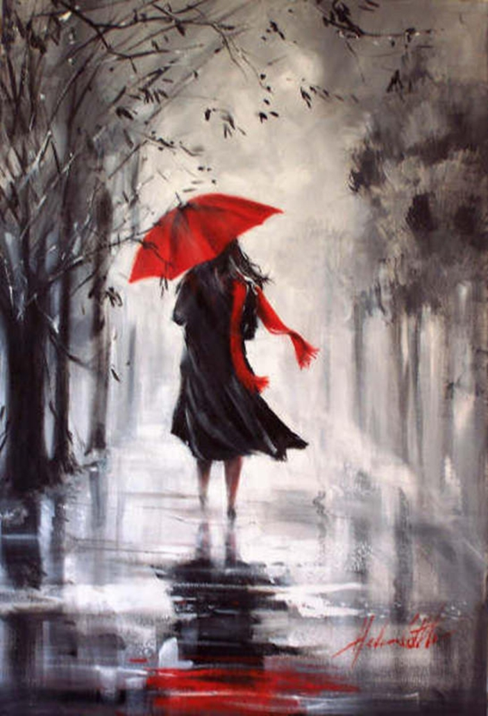 Helen Cottle, 1962 ~ Red umbrella | Tutt'Art@ | Pittura ...