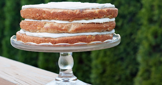 Brown Butter Apple Spice Layer Cake with Maple Cream Cheese Frosting
