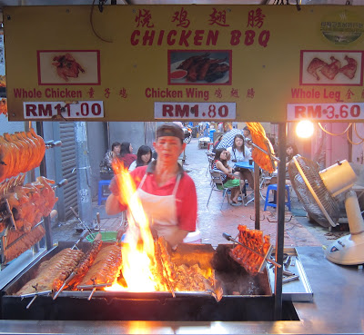 Chicken BBQ @ Meldrum Walk in Downtown Johor Baru, Malaysia
