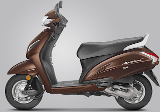 Honda activa 5G Majestic Brown Metallic Colour