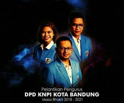 Hendra Guntara Dilantik Menjadi Ketua DPD KNPI Kota Bandung Periode 2018 – 2021