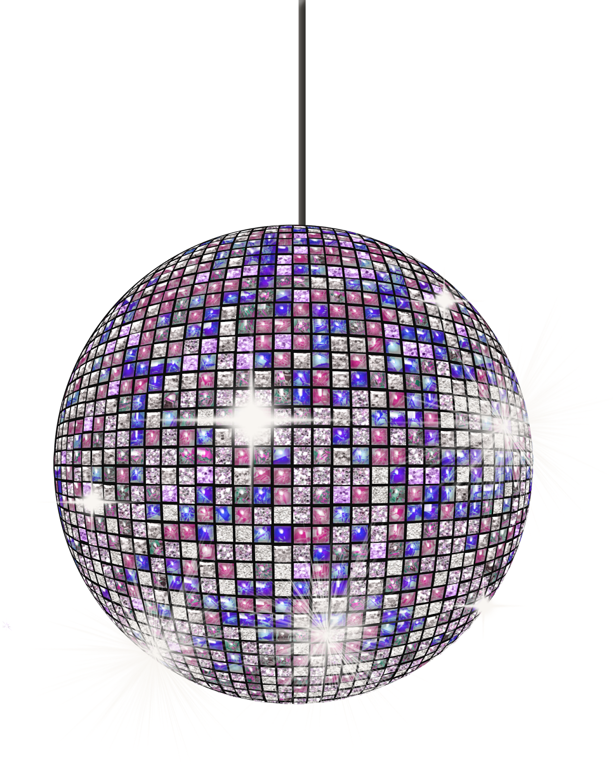 70s disco clipart for Disco ball coloring page