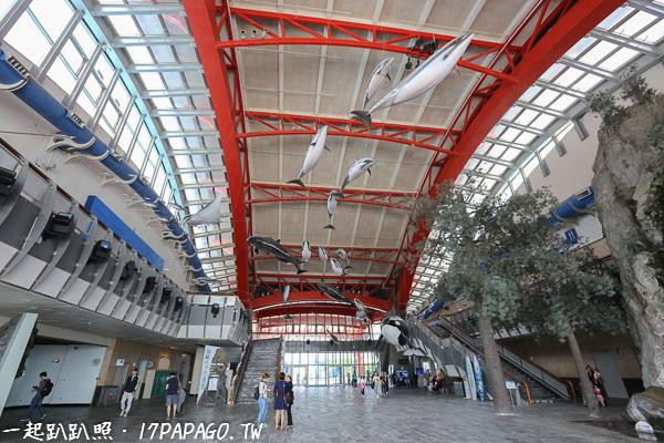 台灣水域館和珊瑚王國館的入口在大廳兩側,世界水域館入口要到外面另一處