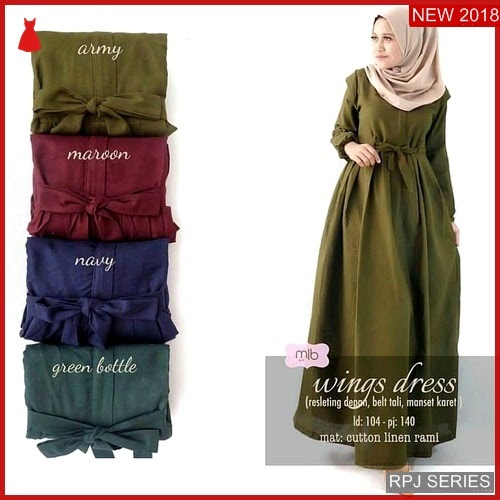 RPJ033D132 Model Dress Wing Cantik Dress Wanita