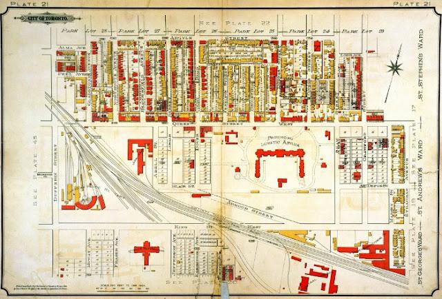 Plate 21, Goad's Atlas of the City of Toronto, 1894