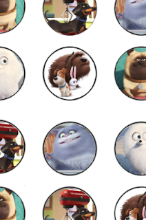 Secret Life of Pets Free Cupcake Toppers