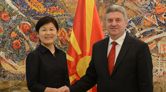 President Ivanov receives credentials from ambassadors of Japan and Mongolia