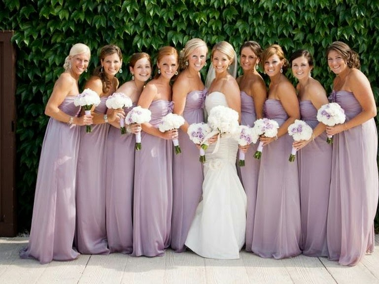 brides & bridesmaids fashion: What kinds of color is most ...