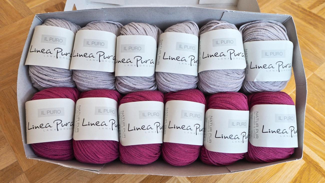 Il Puro Linea Pura Lana Grossa Garn für den Kimonopulli von Filati.cc