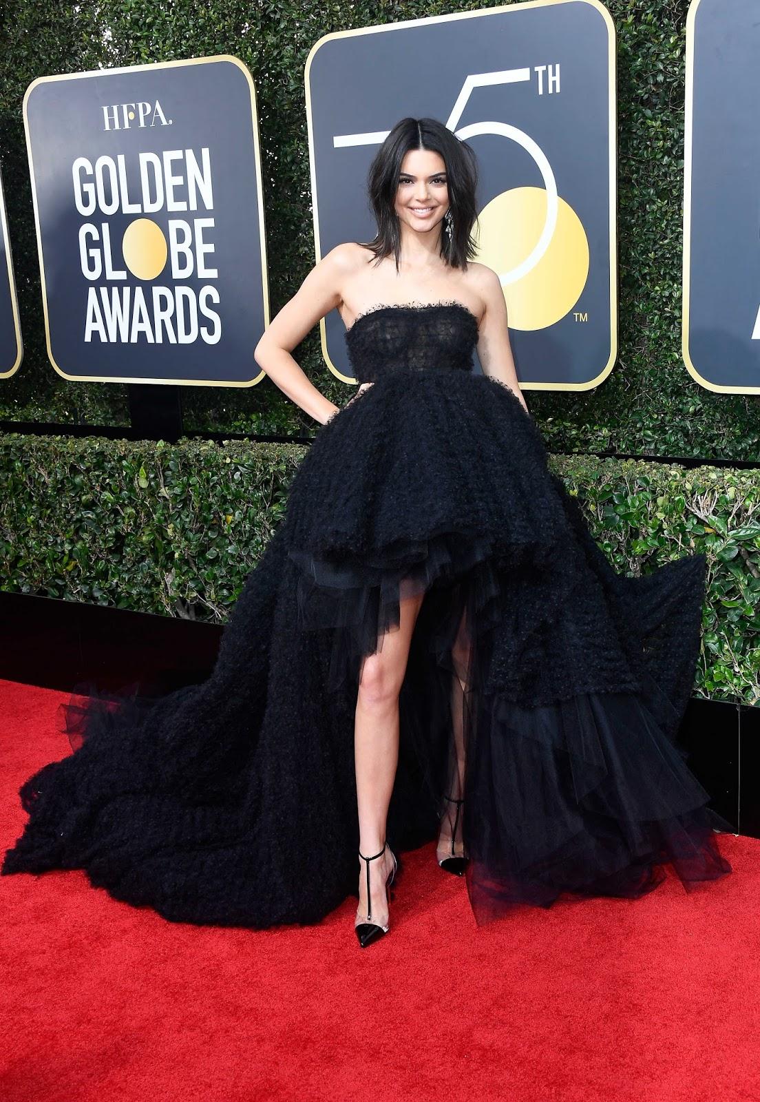 Kendall Jenner Posing at 75th Annual Golden Globe Awards