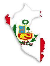 Dibujo Mapa del Perú con el fondo de su bandera