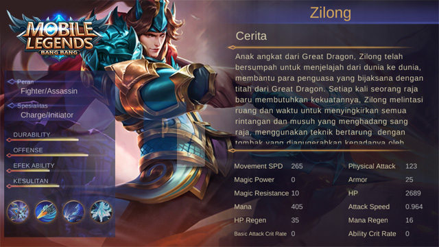 Hero Zilong Mobile Legends