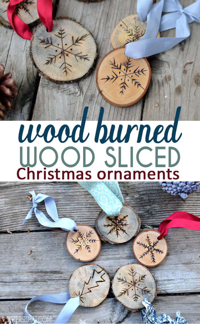 Use a wood burner to make cute Christmas snowflake ornaments