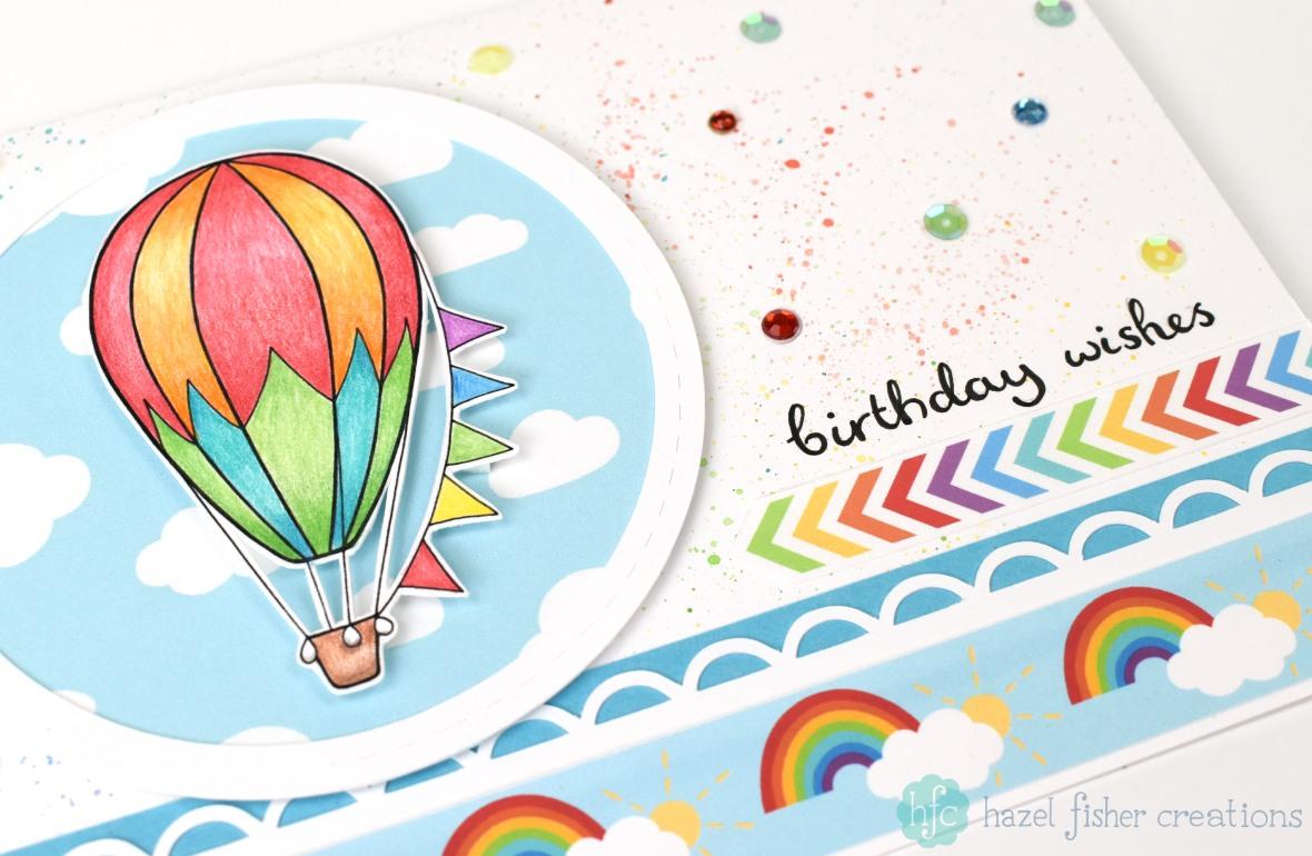 Hazel fisher creations hot air balloons birthday card hot air balloon handmade birthday card hazel fisher creations bookmarktalkfo Image collections