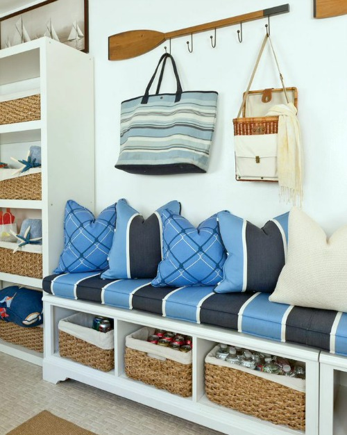 entryway systems furniture. nautical entryway by barclay butera using storage benches as well shelves systems furniture