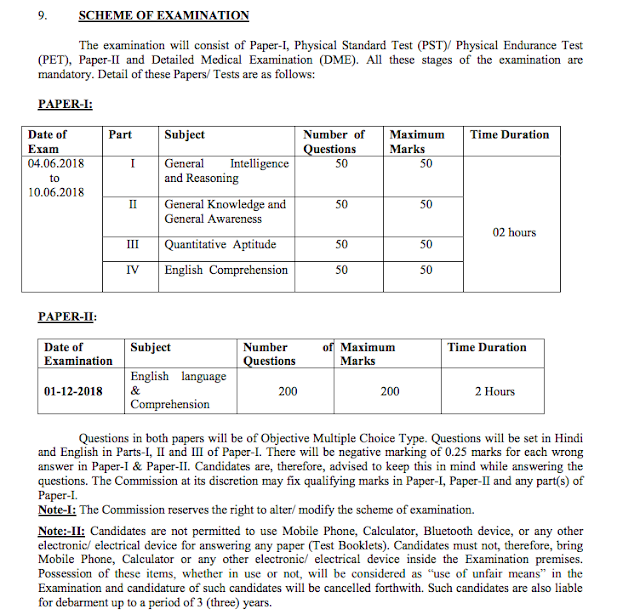 Cpo notification pdf ssc