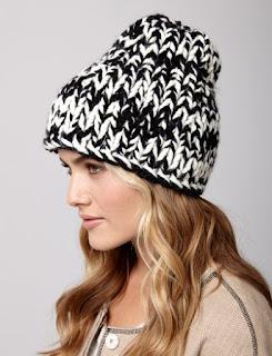bernat raised beanie hat pattern
