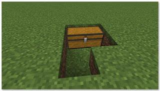 Minecraft トロッコアイテム輸送 簡単な荷降ろし駅 作り方①