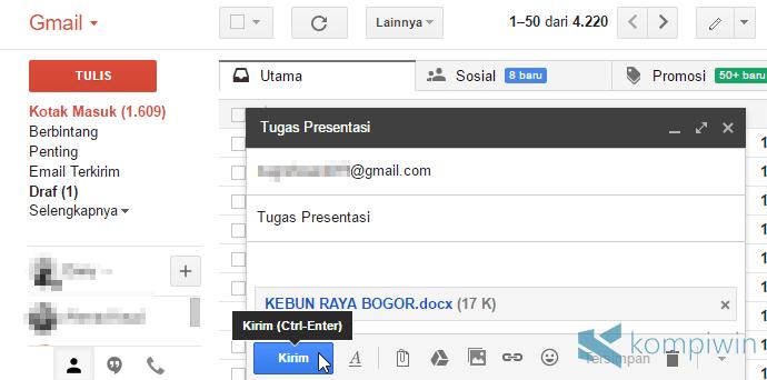 mengirim tugas lewat email