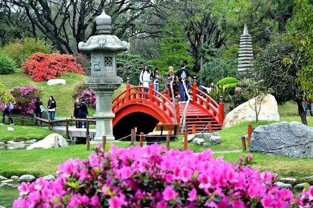 Passeio romântico pelo Jardim Japonês em Buenos Aires