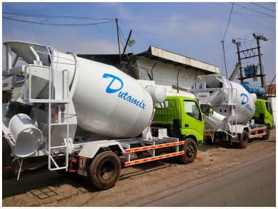 truk mixer hino dutro