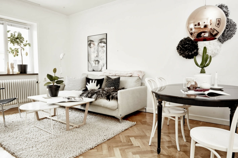 Salas de design n rdico e estilo chique decora o e ideias for Design nordico on line