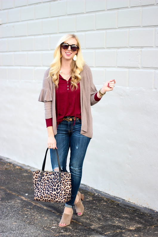 Fall Style with Ruffles + 5 Ways to Wear Leopard