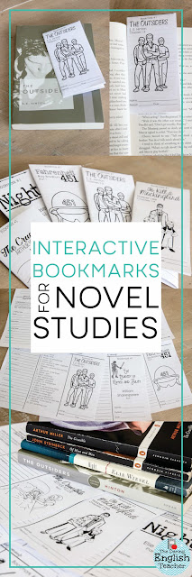 Interactive Bookmarks for Novel Studies in the Secondary Classroom