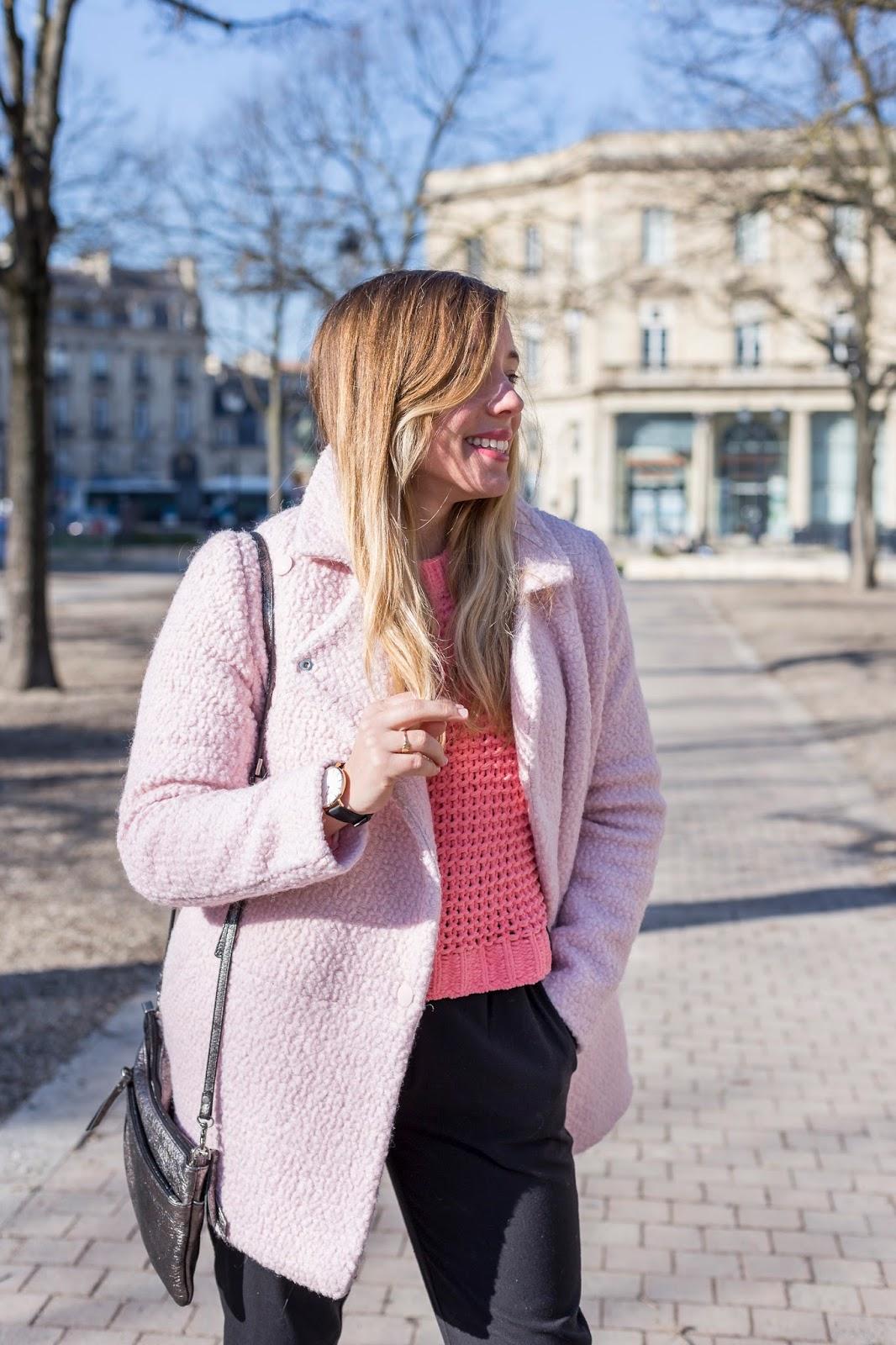 Manteau rose La Redoute
