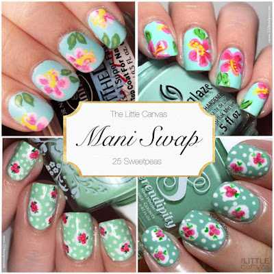 The One With the Mani Swap With 25 Sweet Peas