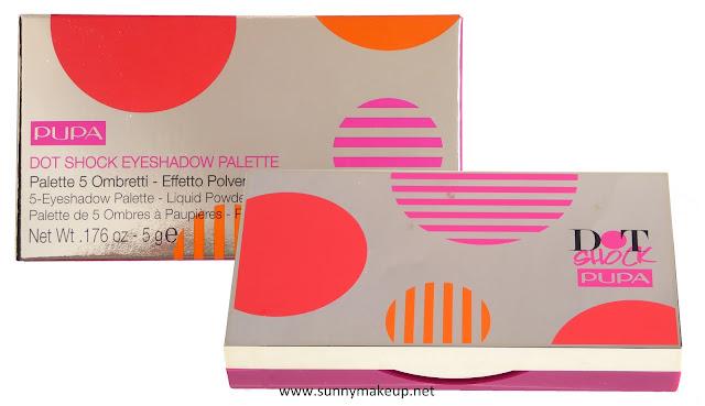 Pupa - Dot Shock. Collezione primavera 2016. Dot Shock Eyeshadow Palette nella colorazione 001 Sweet Romance.