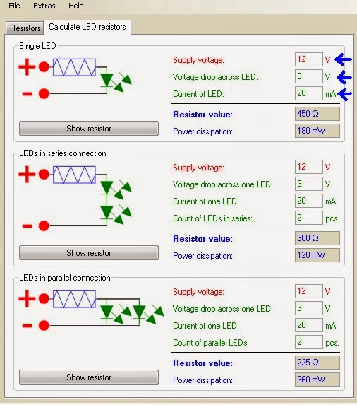 Description and Use of Resistor Calculator 1 0 6 - Blogging & Tech tipps