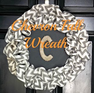 Vintage, Paint and more... black and white chevron wreath made with dollar store tray
