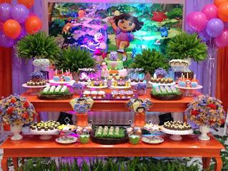 dicas de Festa Infantil da Dora Aventureira