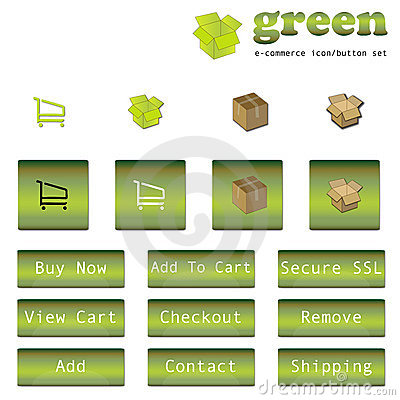 https://www.dreamstime.com/stock-images-green-e-commerce-button-icon-set-image10243874#res487314