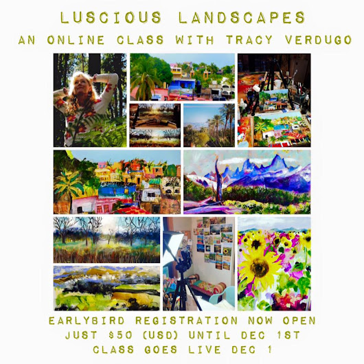 Giveaway for my new Luscious Landscapes class!!