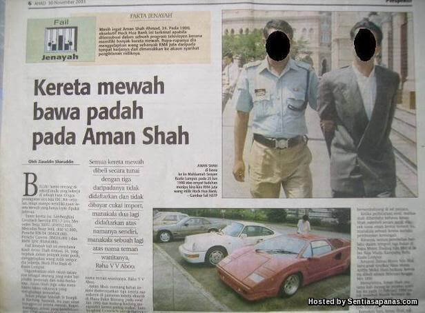 Kereta mewah Aman Shah