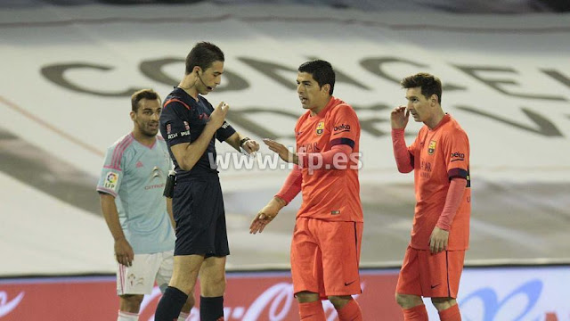 Iñaki Vicandi en el partido RC Celta - FC Barcelona en 2015