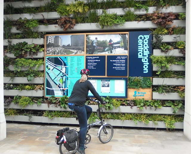 Green wall at British Land's introduction to Paddington Central
