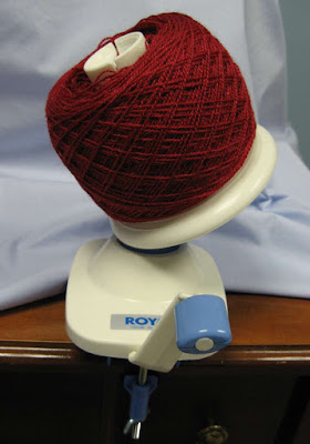 Winder with lace yarn