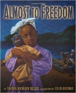 http://www.amazon.com/Almost-Freedom-Coretta-Scott-Illustrator/dp/157505342X/ref=sr_1_1?ie=UTF8&qid=1424548500&sr=8-1&keywords=african+american+doll+freedom+book